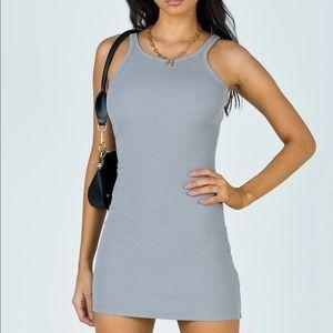 🤍 BNWOT - Princess Polly Grey Mini Dress Size US 0 🤍